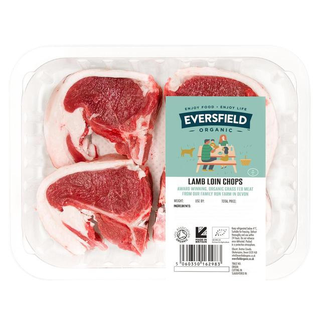 Organic Pork Chops  Eversfield Organic Lamb Loin Chops Pasture Fed for Life