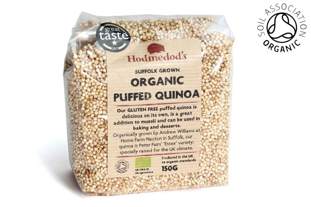 Organic Puffed Quinoa  Quinoa Puffs Organic Hodmedod s British Pulses & Grains