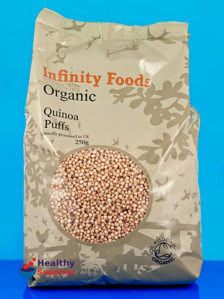 Organic Puffed Quinoa  Organic Puffed Quinoa 250g Infinity Foods