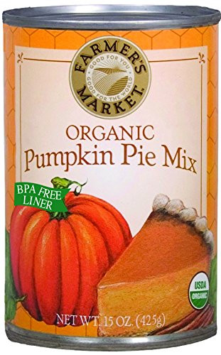 Organic Pumpkin Pie  Farmer s Market Foods Organic Canned Pumpkin Pie Mix 15
