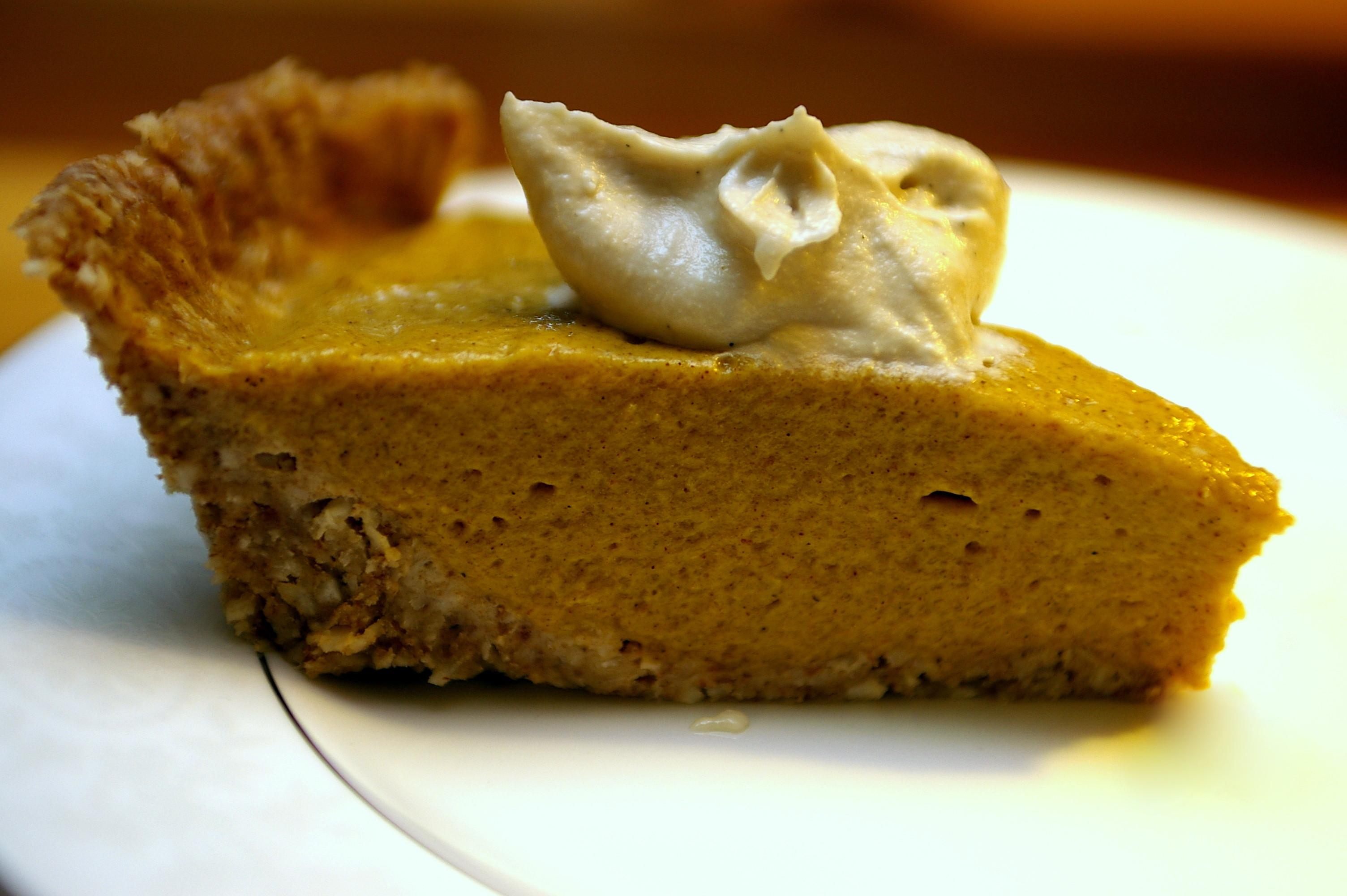 Organic Pumpkin Pie  Raw Pumpkin Pie With Vanilla Cream – OMG