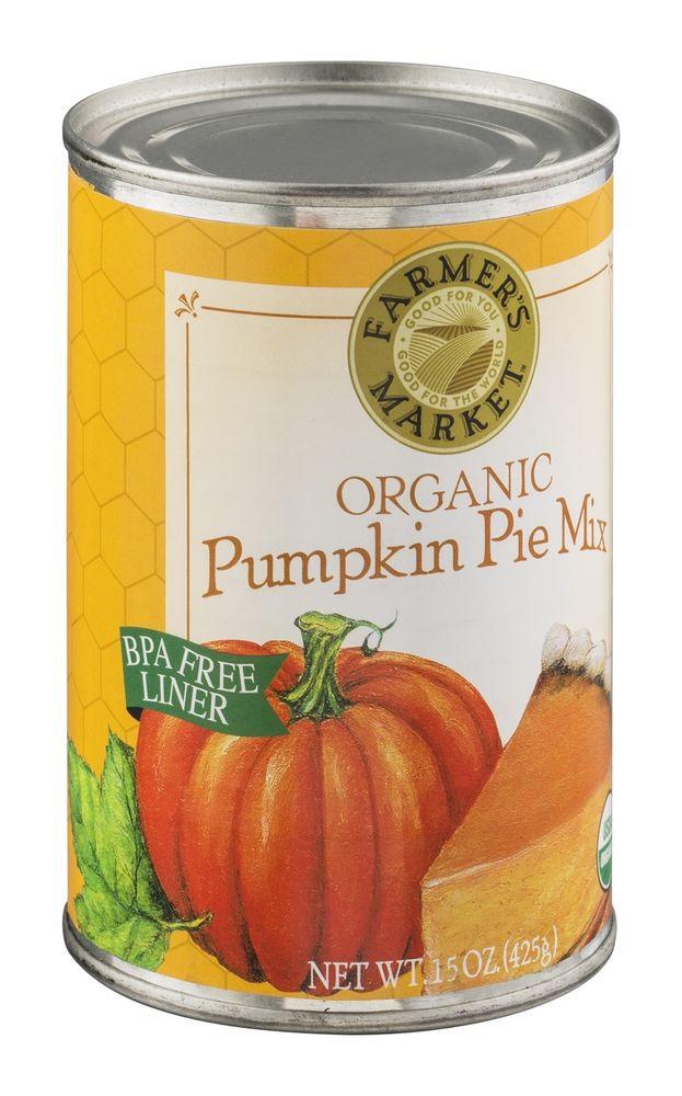 Organic Pumpkin Pie  Farmer s Market Organic Canned Pumpkin Pie Mix 15 oz