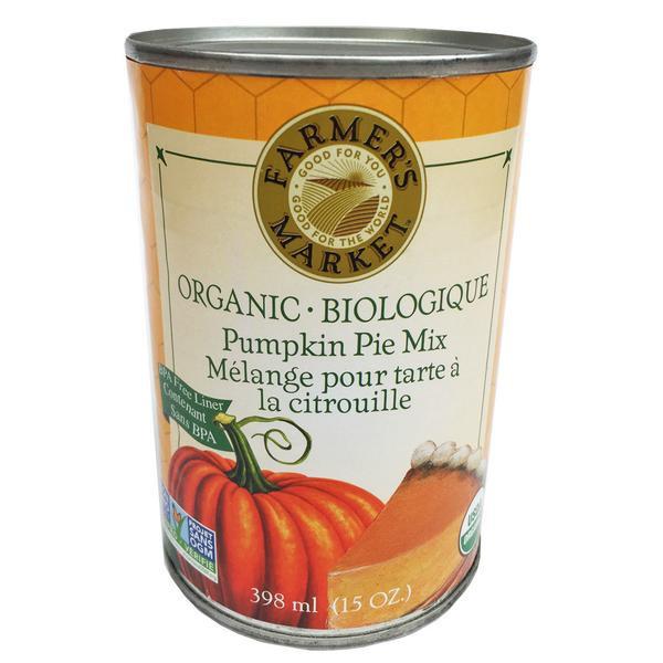 Organic Pumpkin Pie Spice  Farmer s Market Organic Pumpkin Pie Mix 398ml