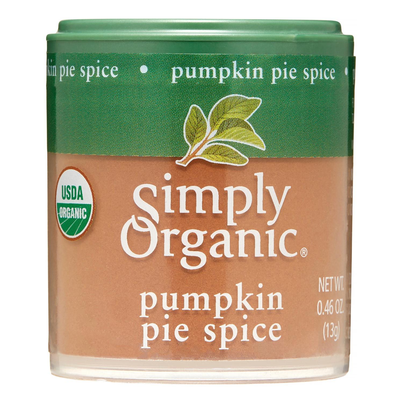 Organic Pumpkin Pie Spice  Simply Organic Pumpkin Pie Spice 0 46 Oz