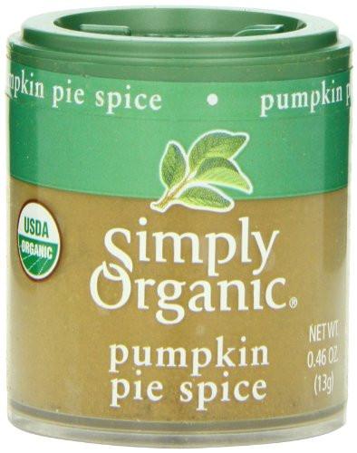 Organic Pumpkin Pie Spice  Simply Organic Pumpkin Pie Spice Mini Spice 0 46 Ounce
