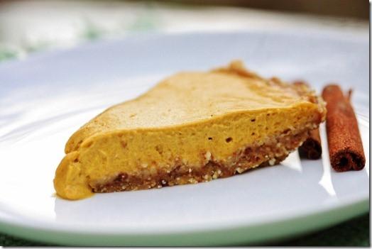 Organic Pumpkin Pie  Raw Vegan Pumpkin Pie