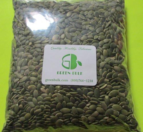 Organic Pumpkin Seeds Bulk  Organic Pumpkin Seeds No Shells 2 Pound by Green Bulk