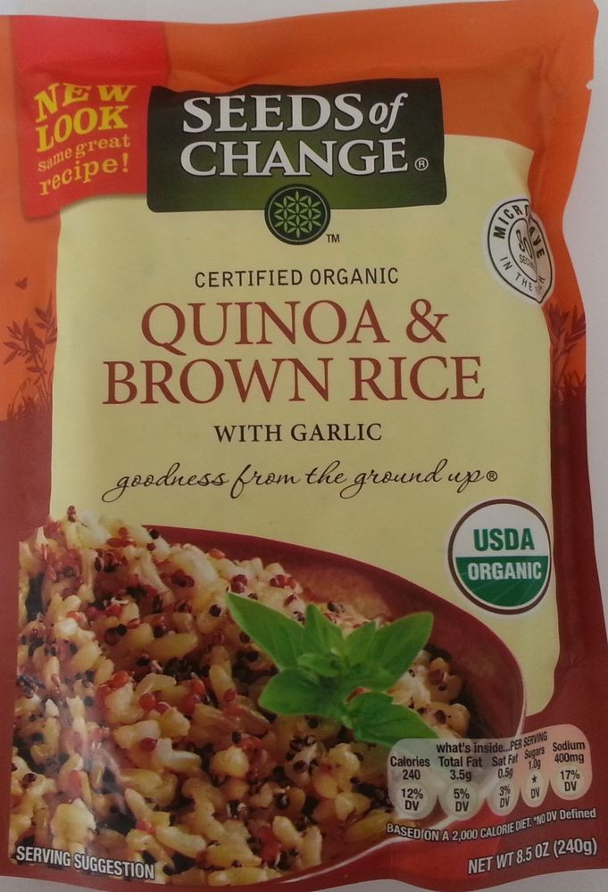 Organic Quinoa And Brown Rice  Seeds Change Organic Quinoa And Brown Rice 1 X 8 5 Oz