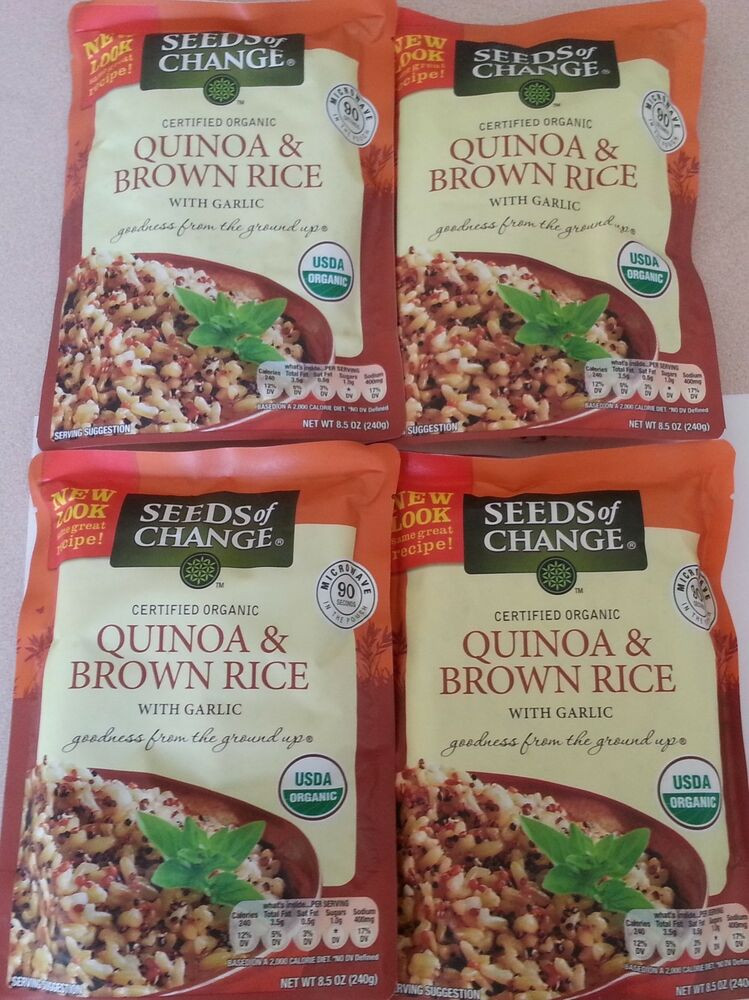 Organic Quinoa And Brown Rice  Seeds Change Organic Quinoa And Brown Rice 4 X 8 5 Oz
