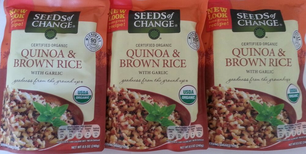Organic Quinoa And Brown Rice  Seeds Change Organic Quinoa And Brown Rice 3 X 8 5 Oz
