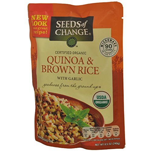 Organic Quinoa And Brown Rice  Seeds of Change Organic Quinoa & Brown Rice 8 5 Ounce