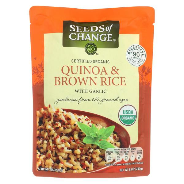 Organic Quinoa And Brown Rice  Seeds Change