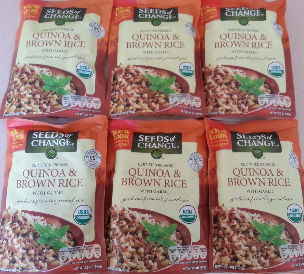 Organic Quinoa And Brown Rice  Seeds Change Organic Quinoa And Brown Rice 10 X 8 5 Oz
