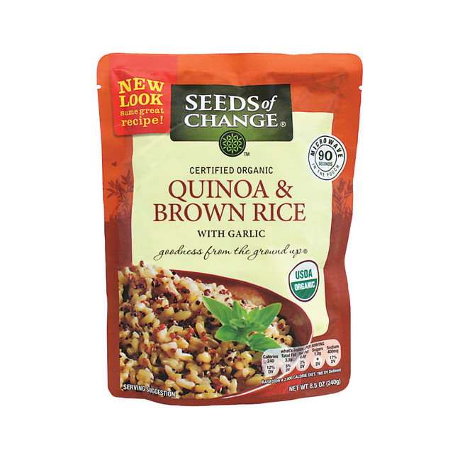 Organic Quinoa And Brown Rice  Seeds of Change Quinoa and Whole Grain Brown Rice 8 5 oz