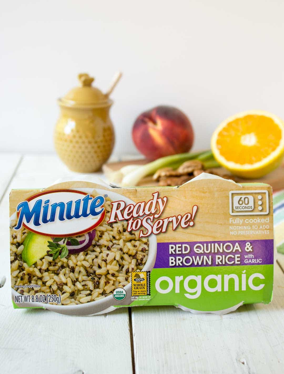 Organic Quinoa And Brown Rice  Quinoa Brown Rice and Peach Salad Beyond The Chicken Coop