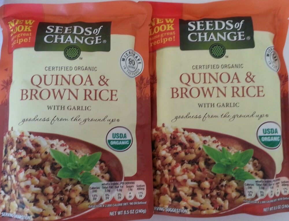 Organic Quinoa And Brown Rice  Seeds Change Organic Quinoa And Brown Rice 2 X 8 5 Oz