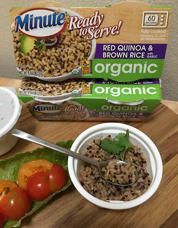 Organic Quinoa And Brown Rice  Minute Ready to Serve Organic Red Quinoa & Brown Rice with