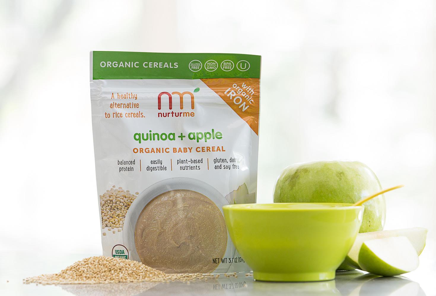 Organic Quinoa Baby Cereal  Quinoa Cereals quinoa apple NurturMe