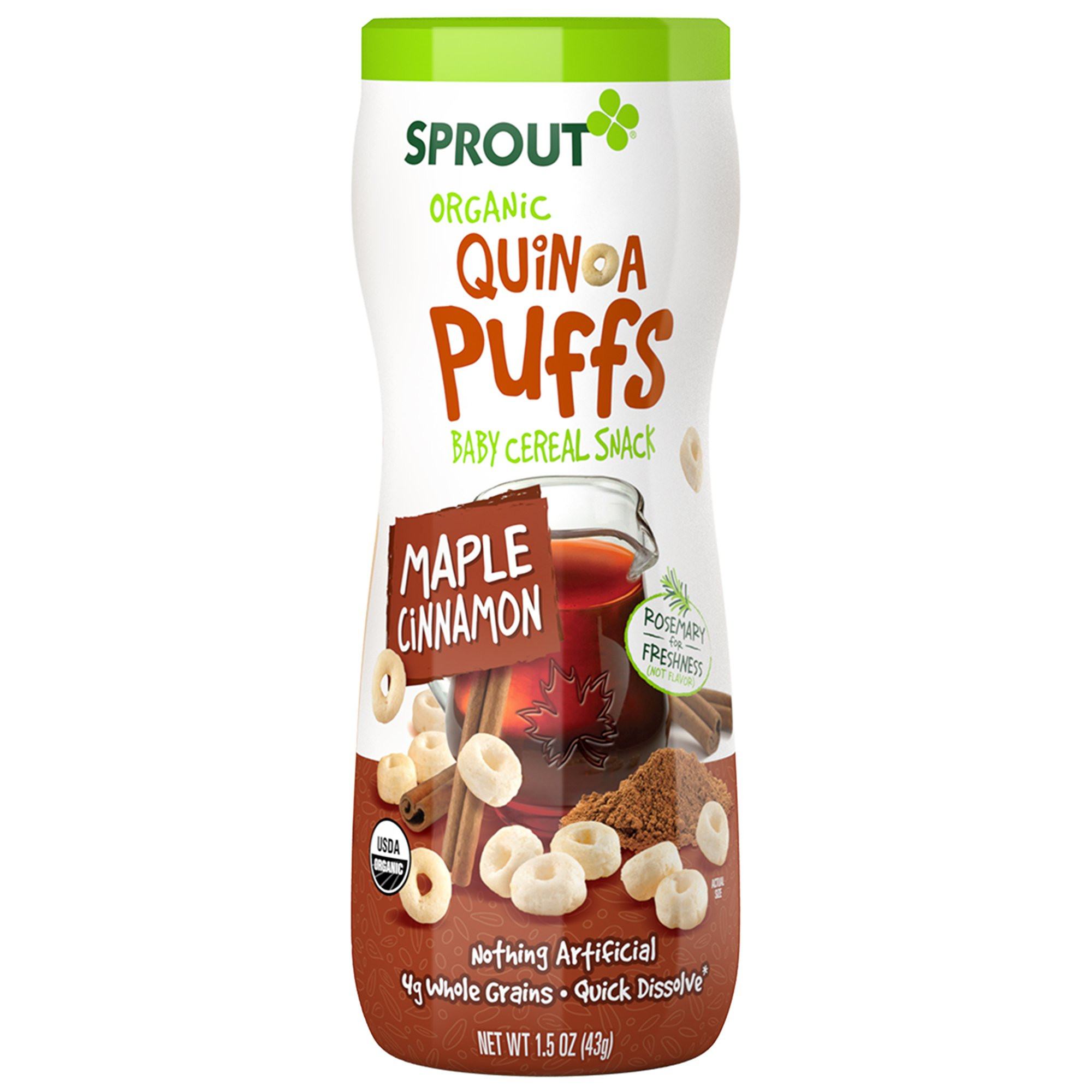 Organic Quinoa Baby Cereal  Sprout Organic Baby Food Sprout Organic Curlz Toddler