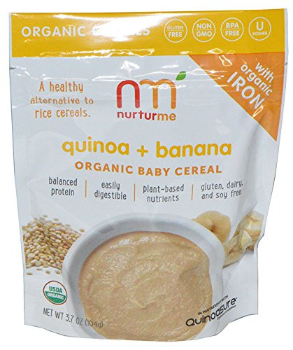 Organic Quinoa Baby Cereal  Nurturme Organic Baby Cereal Variety Pack of 4 Toddler