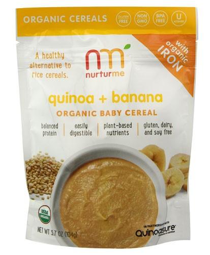 Organic Quinoa Baby Cereal  NurturMe Quinoa and Banana Organic Baby Cereal 3 7 Oz