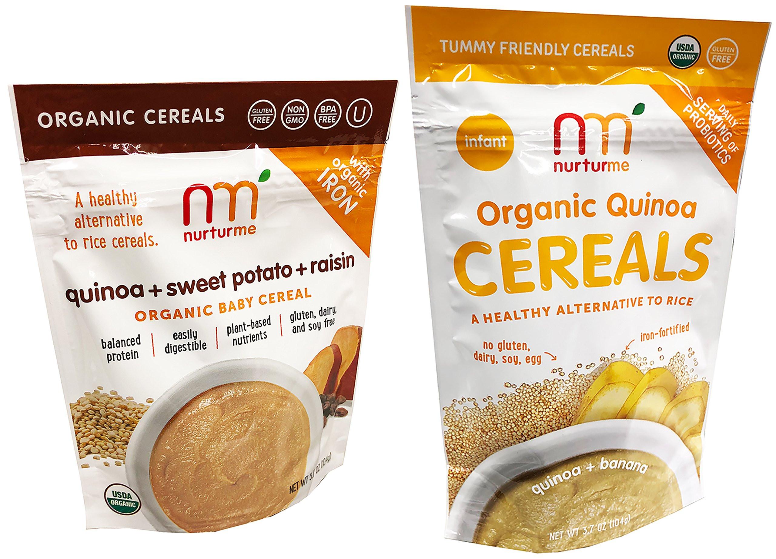 Organic Quinoa Baby Cereal  Amazon NurturMe Organic Infant Cereals Quinoa