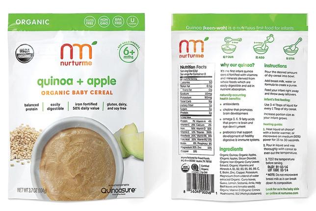 Organic Quinoa Baby Cereal  NurturMe Baby Food