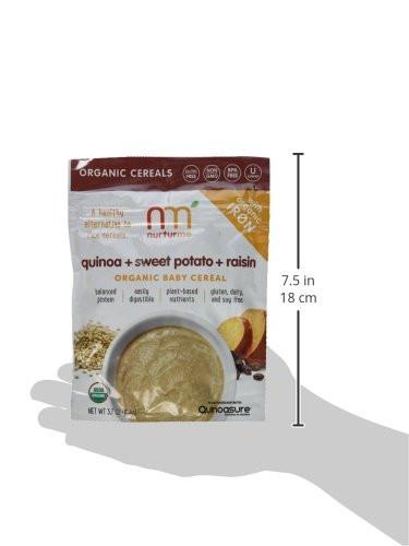 Organic Quinoa Baby Cereal  NurturMe Organic Infant Cereal Quinoa Raisin and Sweet