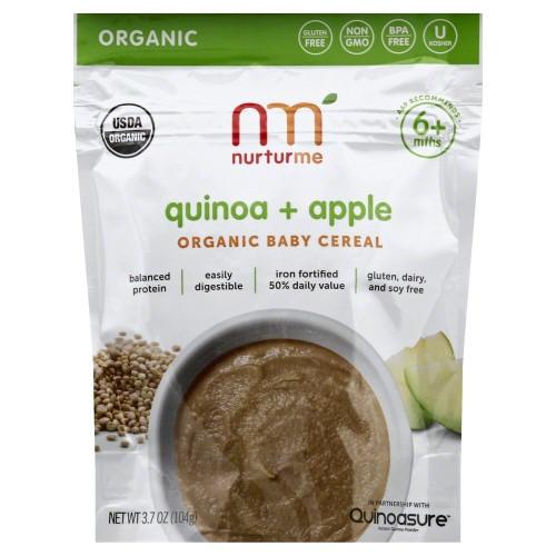 Organic Quinoa Baby Cereal  NurturMe Quinoa and Apple Organic Baby Cereal 3 7 Oz