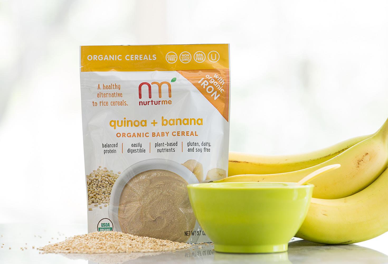Organic Quinoa Baby Cereal  Quinoa Cereals quinoa banana NurturMe
