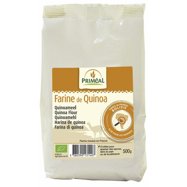 Organic Quinoa Flour  Organic Quinoa Flour 500g Priméal