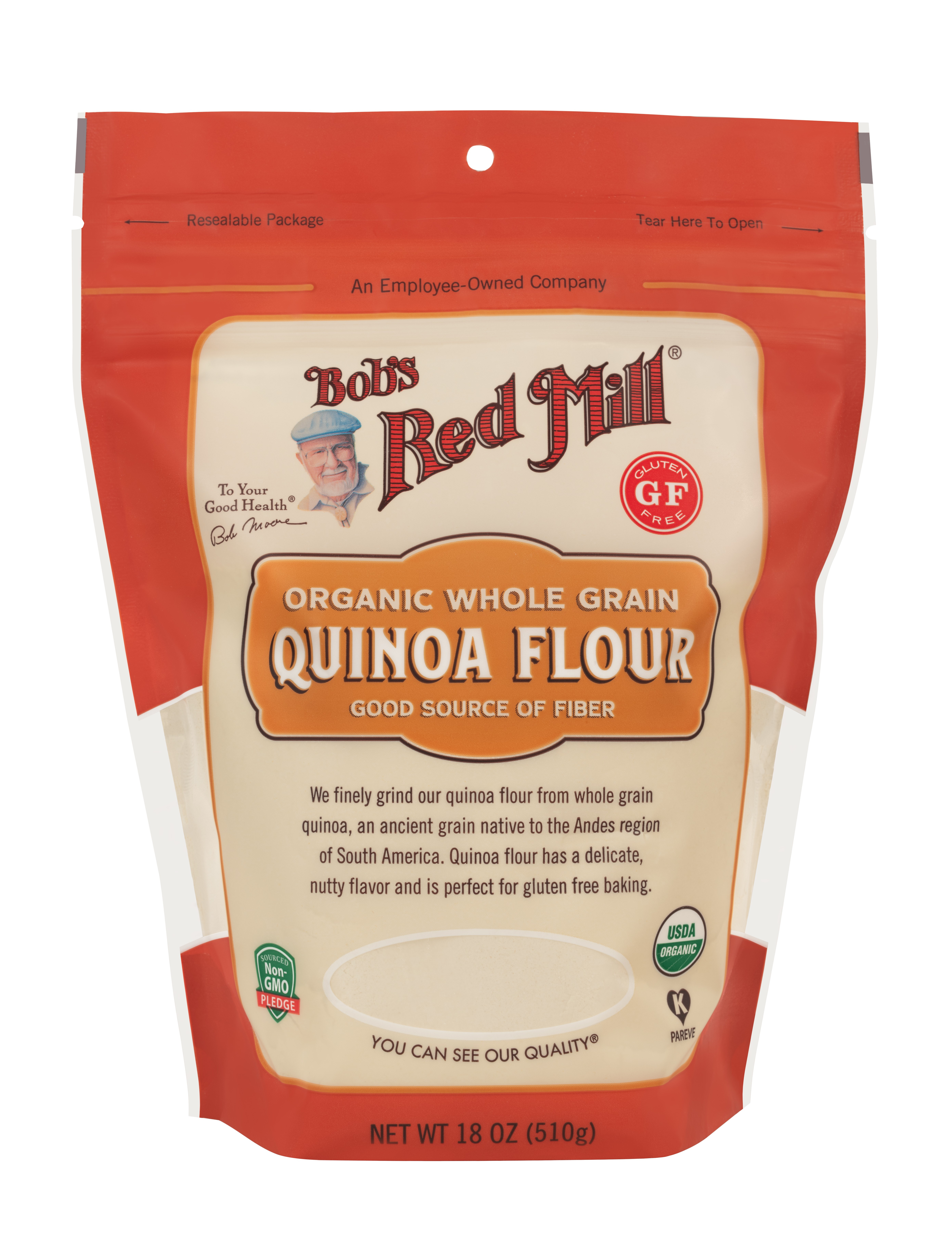 Organic Quinoa Flour  Organic Quinoa Flour Bob s Red Mill Natural Foods