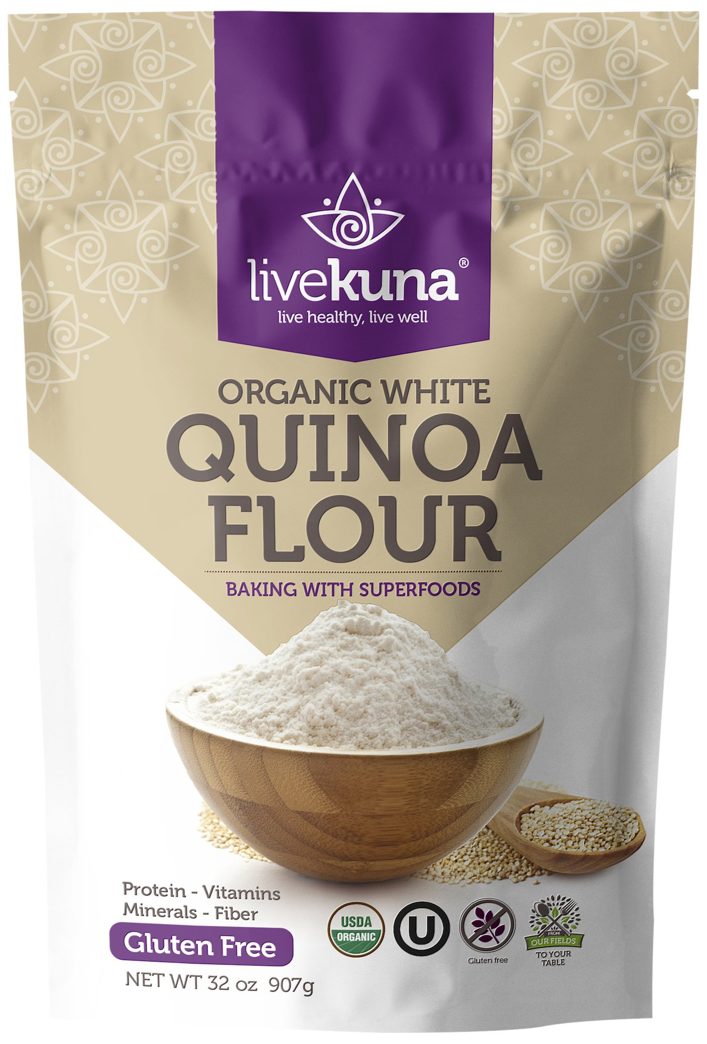 Organic Quinoa Flour  Amazon Shiloh Farms Organic Quinoa Flakes 16 oz