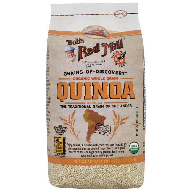 Organic Quinoa Flour  Bob s Red Mill Organic Whole Grain Quinoa 16 oz 453 g