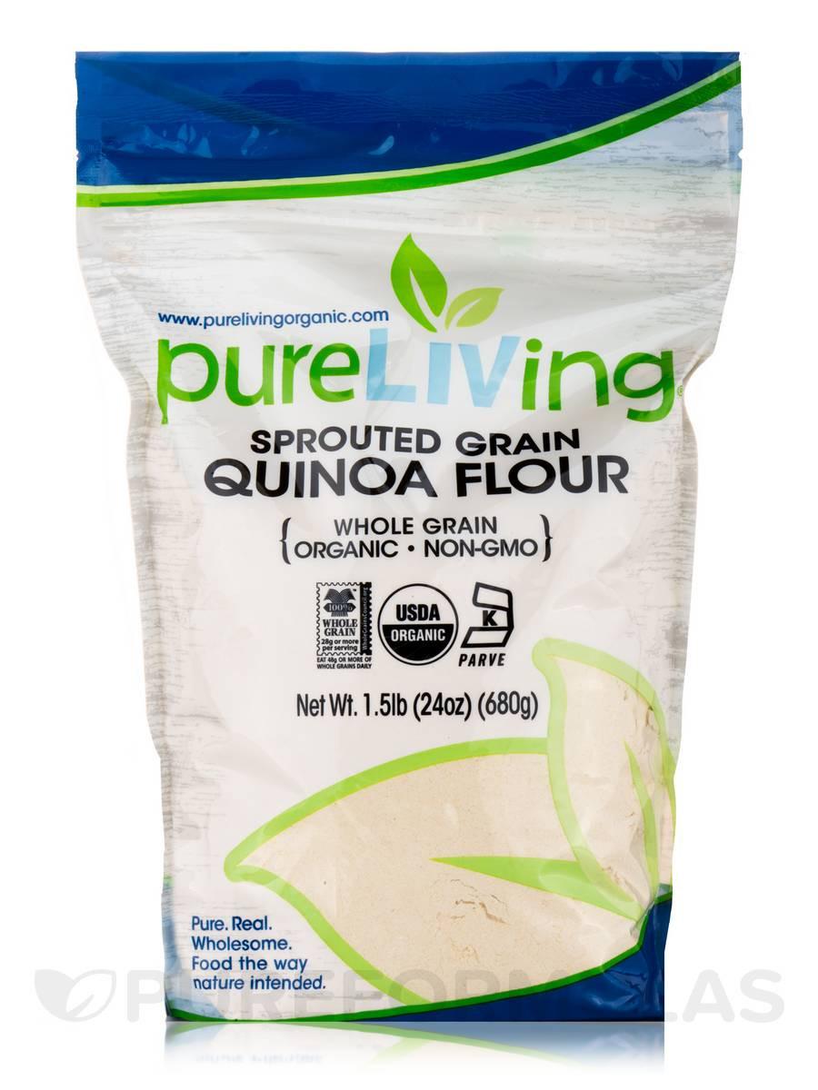 Organic Quinoa Flour  Sprouted Grain Quinoa Flour Whole Grain 24 oz 680 Grams