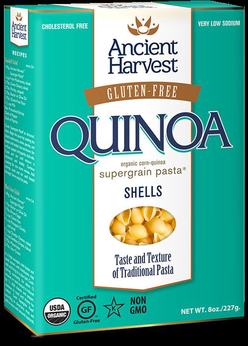 Organic Quinoa Pasta  Ancient Harvest Quinoa Pasta Shells 8 oz 6 Pack