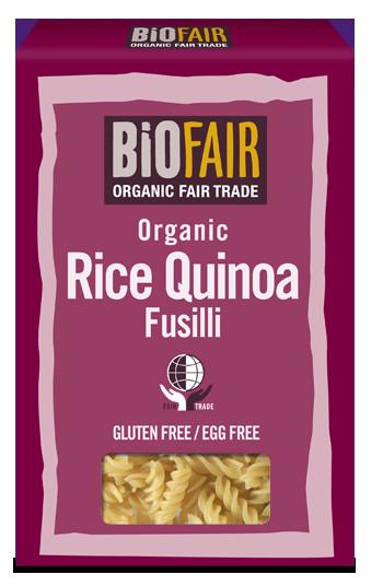 Organic Quinoa Pasta  BiOFAIR Organic Rice and Quinoa Fusilli 250g Fair Trade