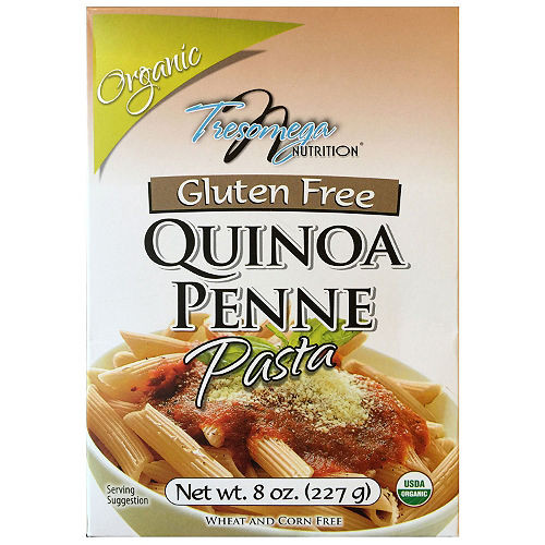 Organic Quinoa Pasta  Tresomega Nutrition Organic Quinoa Pasta Penne 8 oz 12