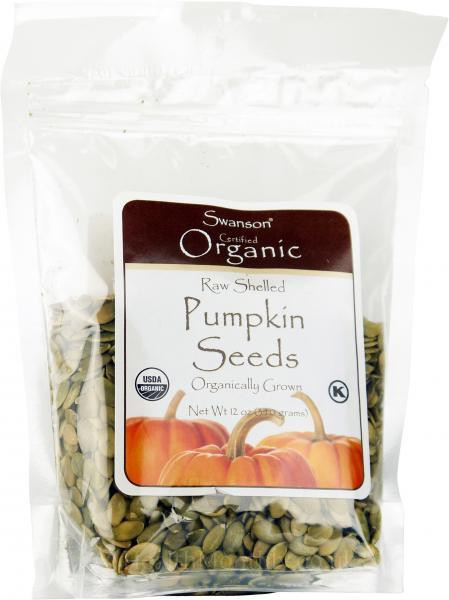Organic Raw Pumpkin Seeds  Swanson Certified Organic Raw Shelled Pumpkin Seeds