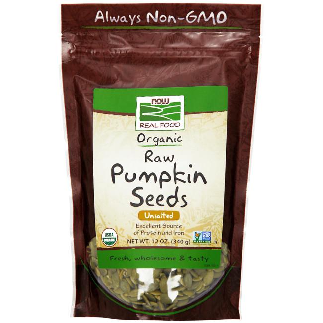 Organic Raw Pumpkin Seeds  NOW Foods Organic Raw Pumpkin Seeds Unsalted 12 oz 340
