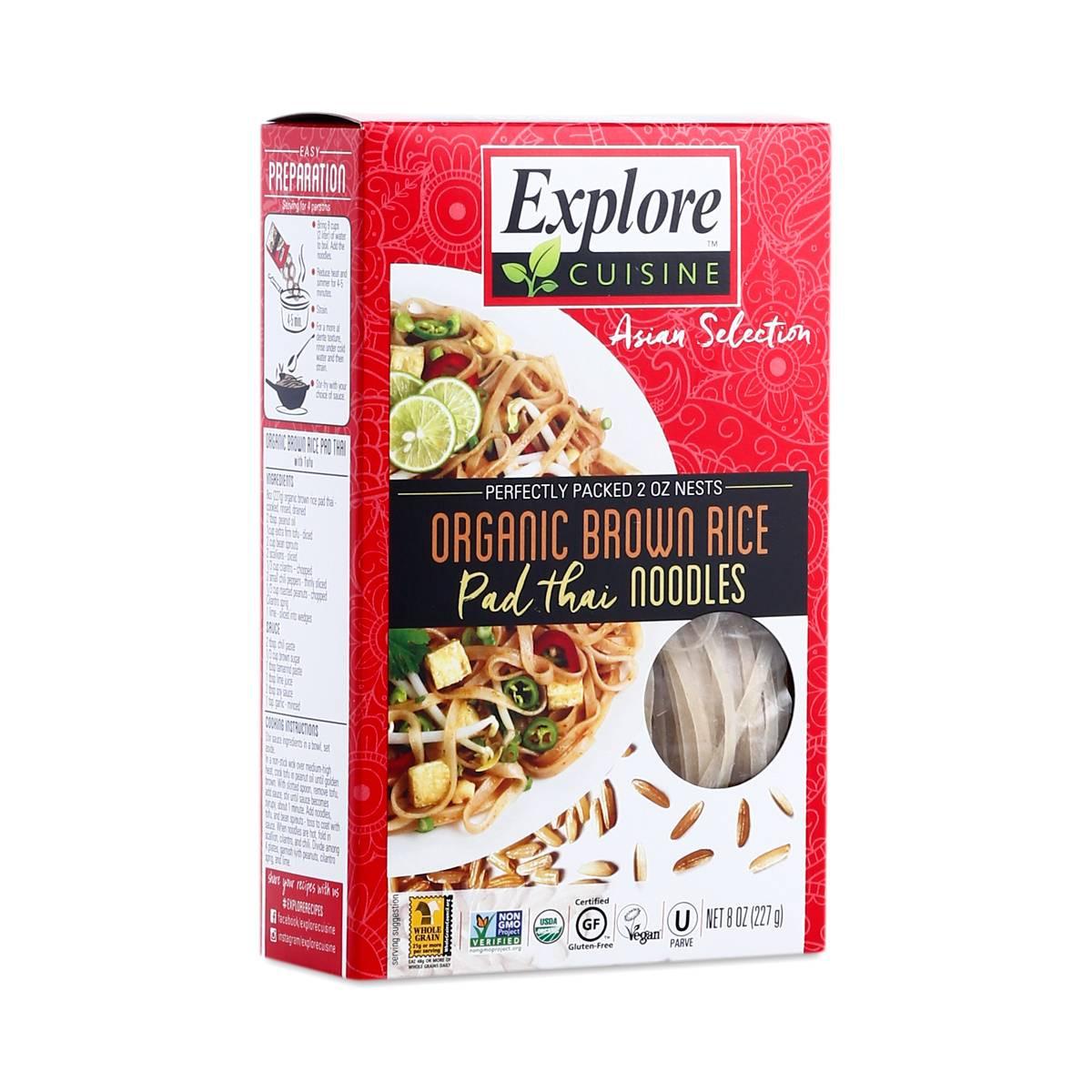 Organic Rice Noodles  organic brown rice pad thai noodles Thrive Market