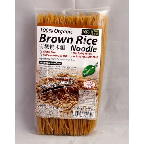 Organic Rice Noodles  Yoji – Organic Brown Rice Noodle Mie 300 gr – Jual