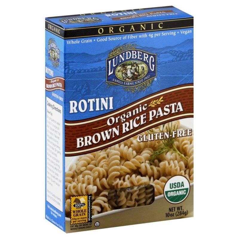 Organic Rice Noodles  Lundberg Farms Organic Brown Rice Rotini Pasta 6 Pack