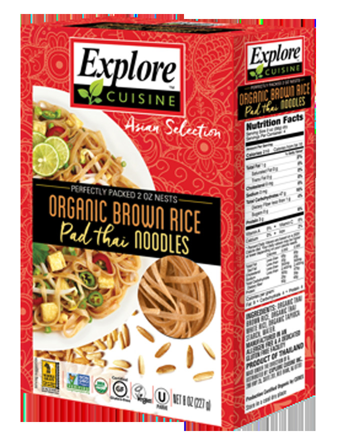 Organic Rice Noodles  Organic Brown rice pad thai noodles RICE NOODLES PRODUCTS