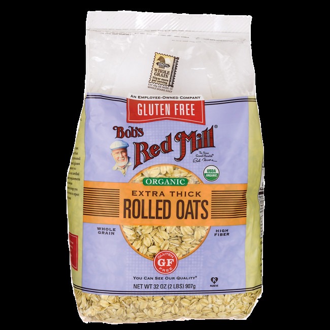 Organic Rolled Oats  Bob s Red Mill Gluten Free Organic Thick Rolled Oats 32 oz