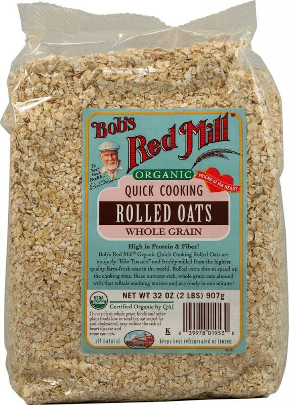 Organic Rolled Oats  Bob s Red Mill Organic Quick Rolled Oats 32 oz 4 Pack