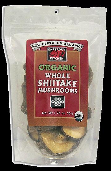 Organic Shiitake Mushrooms  Emperor s Kitchen Organic Shiitake Mushrooms Great