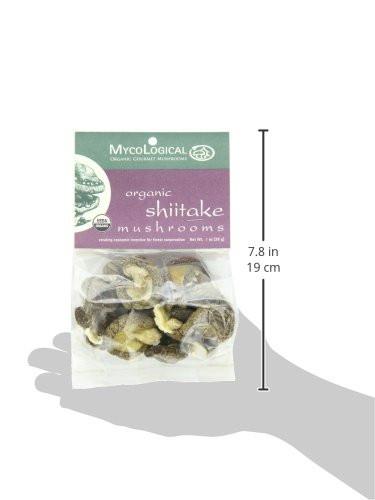 Organic Shiitake Mushrooms  Mycological Dried Organic Shiitake Mushrooms 1 Ounce Package