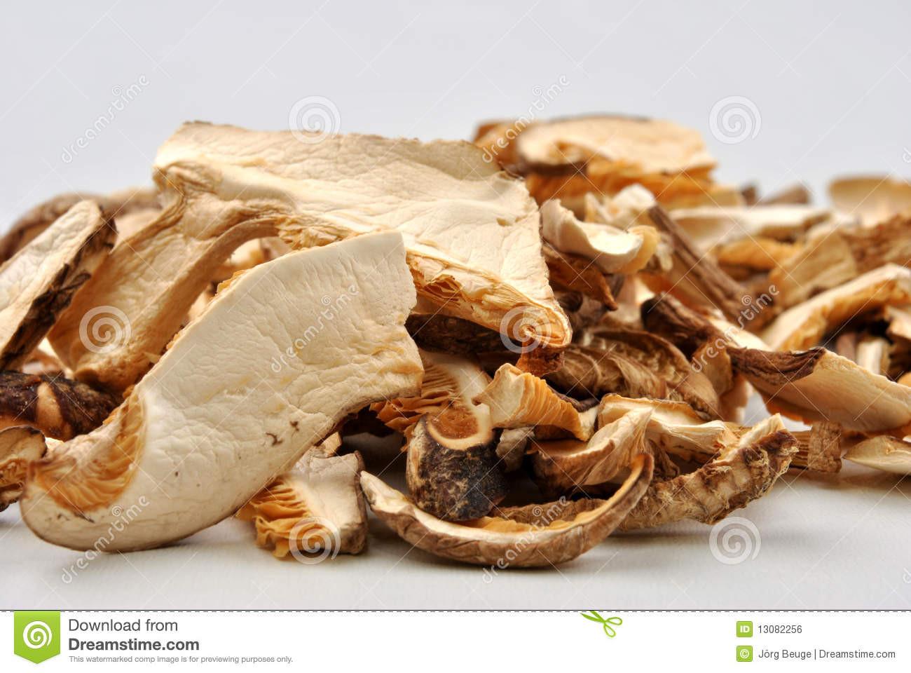 Organic Shiitake Mushrooms  Dried Wild Organic Shiitake Mushroom Royalty Free Stock