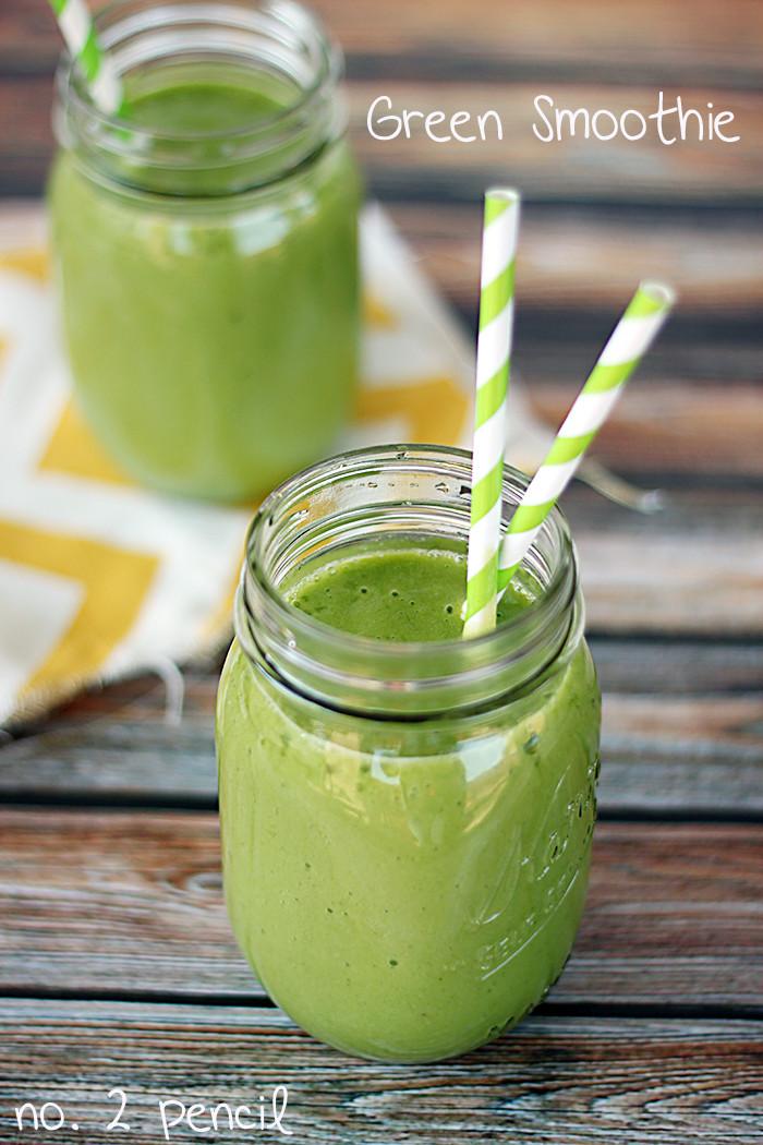 Organic Smoothie Recipes  Green Smoothie No 2 Pencil